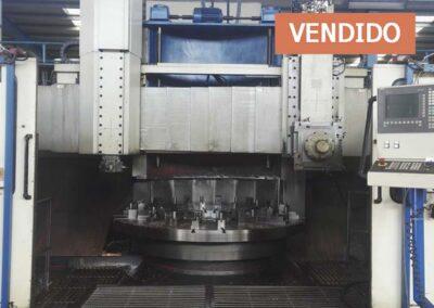 #05215 Torno vertical TOS SKJ20a CNC SINUMERIC 840D – 4 ejes – aňo 2007 – vendido a India